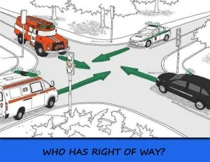 who has right of way