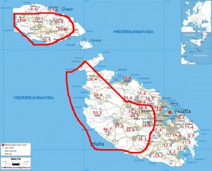 Road-map-of-Malta (2)