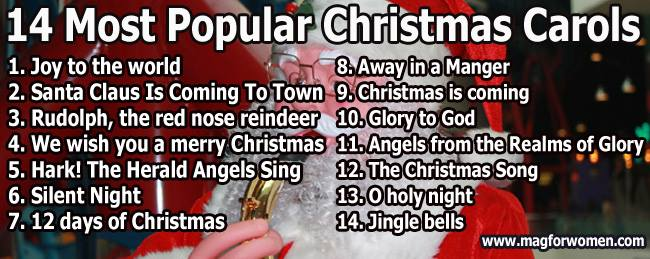 popular christmas carols - Classic Christmas Songs List