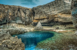 blue hole Malta Landscape Photography