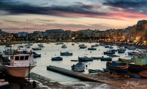 dusk picturesque fishing village of marsascala james farrugia