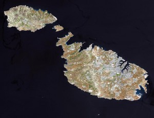 Satellite photo of The Maltese Islands