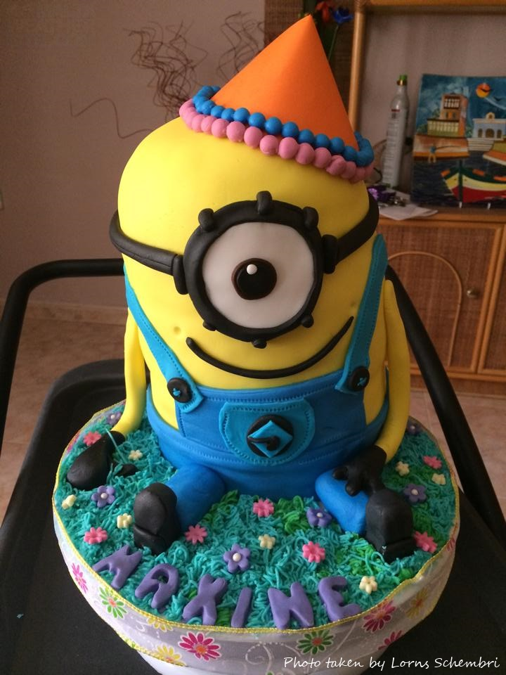 A Special Birthday Cake For A Girl Who Loves The Minions Malta