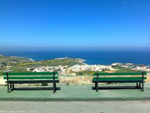 Sit down and relax in the sunshine! Is this the bench with the best view in Malta and Gozo benny scerrin gharghur
