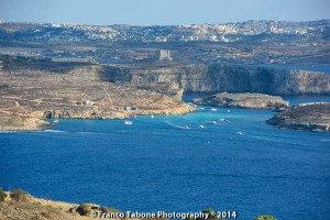 blue lagoon from gozo franco tabone
