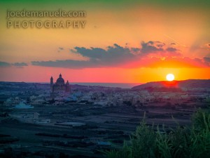 sunset gozo Joe Demanuele Photography