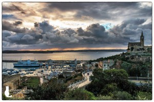 stormy sky over the malta-gozo channel joanne mohr