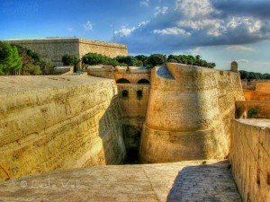 valletta's massive bastions bathed in thewarm glow of the afternoon sun leslie vella