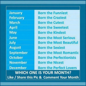 which one is your month